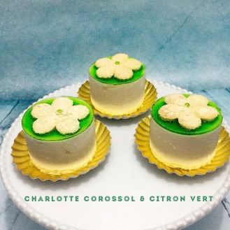 Charlotte corossol, insert crémeux citron vert